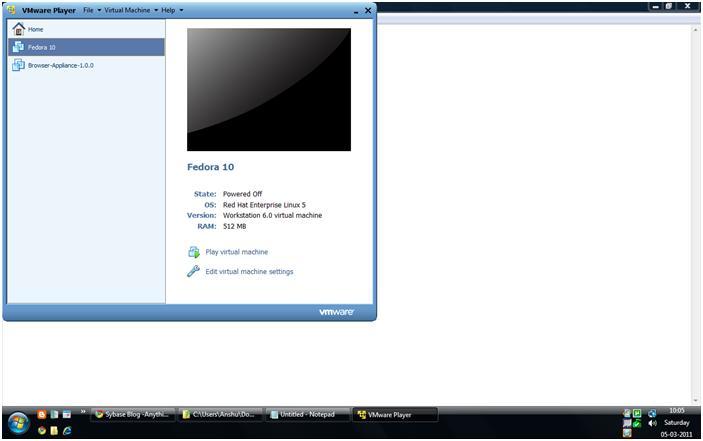 ASE Installation on Linux : Using Fedora Vmware Machine on Windows